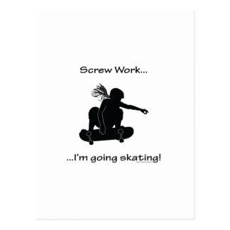 Screw Work-Skating Postcard