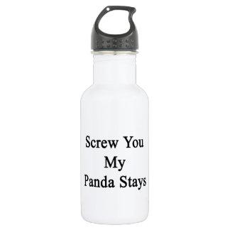 Screw You My Panda Stays Stainless Steel Water Bottle