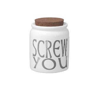 Screw You With Screws Candy Jar