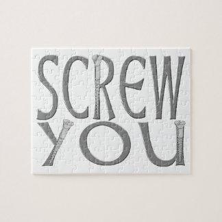 Screw You With Screws Jigsaw Puzzle