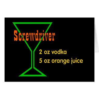 Screwdriver Greeting Card