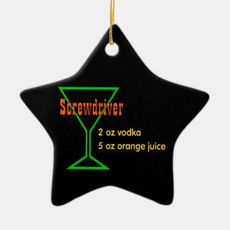 Screwdriver Ceramic Ornament