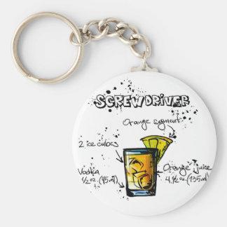 Screwdriver Cocktail Recipe Keychain