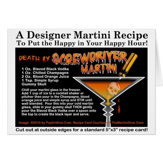 Screwdriver Halloween Martini Recipe Card