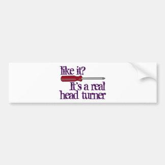 Screwdriver - head turner - funny image bumper sticker