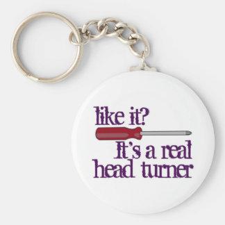 Screwdriver - head turner - funny image keychain