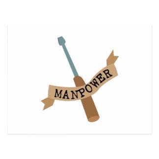 Screwdriver Manpower Postcard