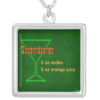 Screwdriver Silver Plated Necklace