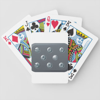 Screws and bolts design elements poker cards