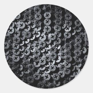 Screws for construction. classic round sticker