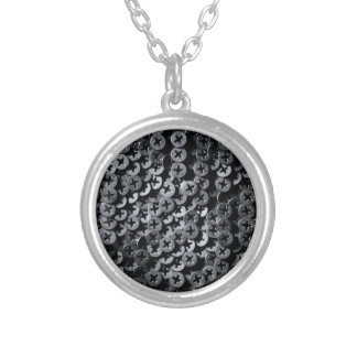 Screws for construction. round pendant necklace