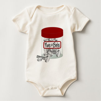 Screws Nuts Bolts and Nails Baby Bodysuit