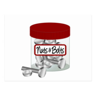 Screws Nuts Bolts and Nails Postcard