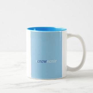 """Screwvenir"" Two-Tone Coffee Mug"