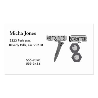 Screwy Nuts Business Cards