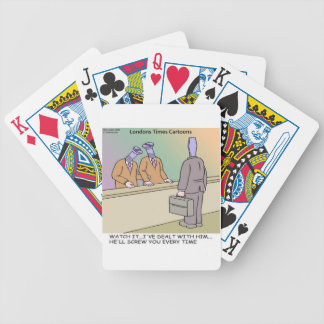Screwy Salesman by Rick London Funny Bicycle Playing Cards