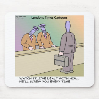 Screwy Salesman by Rick London Funny Mouse Pad