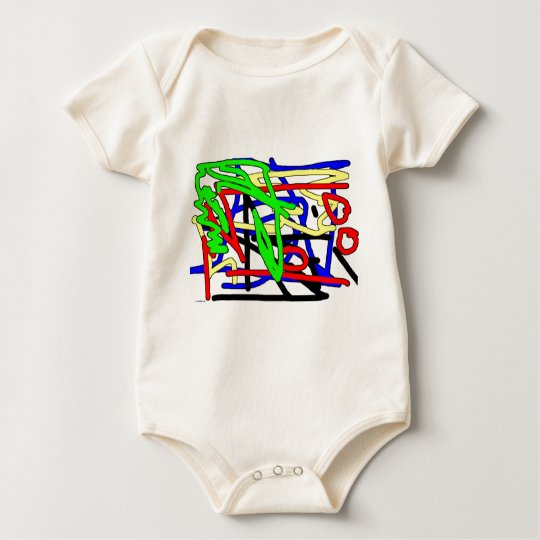 scribble baby bodysuit