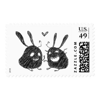 Scribble Bunny Love Postage