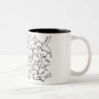 Scribble Bunny Mug