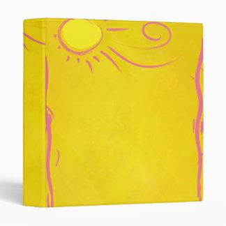 scribble cartoon sun 3 ring binder