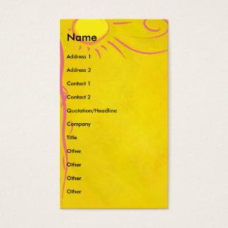 scribble cartoon sun business card