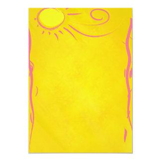 scribble cartoon sun card