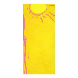 scribble cartoon sun rack card