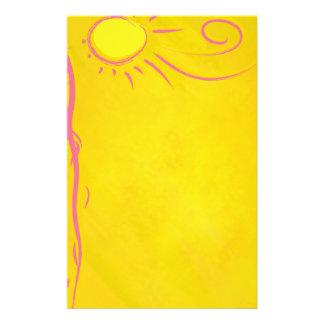 scribble cartoon sun stationery