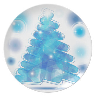 Scribble Christmas Tree Dinner Plate