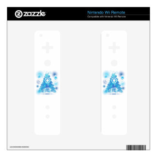 Scribble Christmas Tree Wii Remote Skin