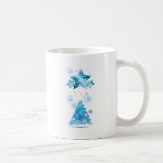 Scribble Christmas Tree with stars balloons Coffee Mugs