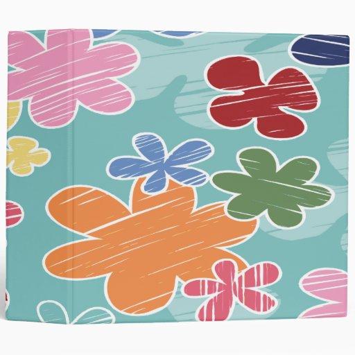 scribble flowers notebook-01 3 ring binders
