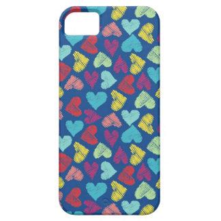Scribble Heart iPhone SE/5/5s Case