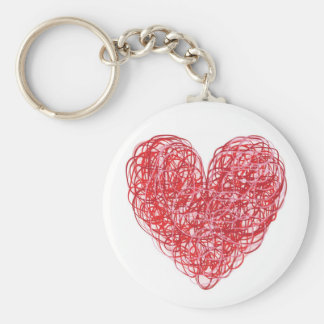 Scribble Heart Key Chain