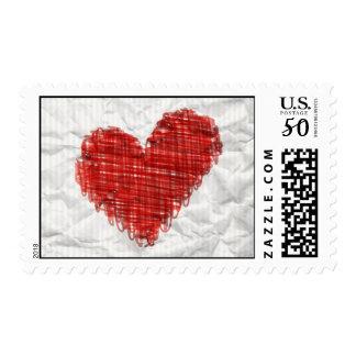 Scribble Heart Postage