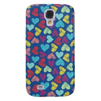 Scribble Heart Samsung Galaxy S4 Case