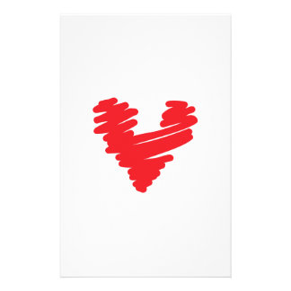 SCRIBBLE HEART CUSTOMIZED STATIONERY