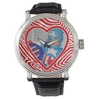 Scribble Heart Template Wrist Watch
