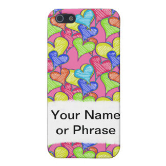 Scribble Hearts Case Customize With Your Words