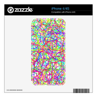 Scribble IPhone Cover Decal For iPhone 4