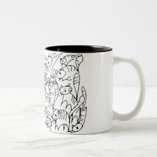 Scribble Kitty Mug