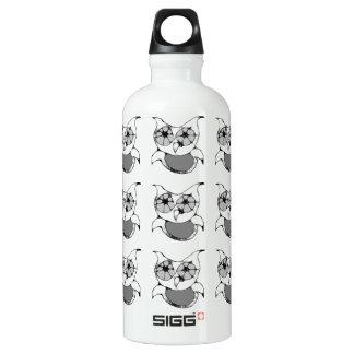 Scribble Owl Aluminum Water Bottle