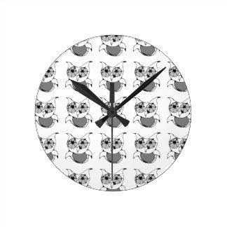 Scribble Owl Clock