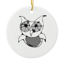 Scribble Owl Ornament
