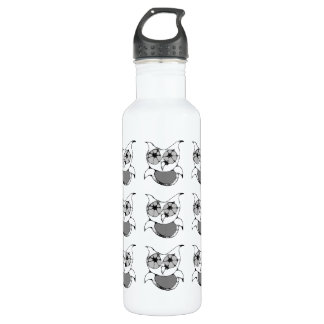 Scribble Owl Water Bottle