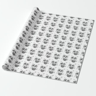 Scribble Owl Wrapping Paper