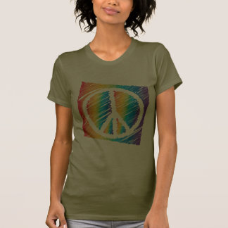 Scribble Peace Dark Shirt