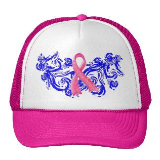 Scribble Pink Ribbon Hat