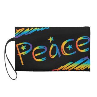 Scribble Rainbow Peace Wristlet